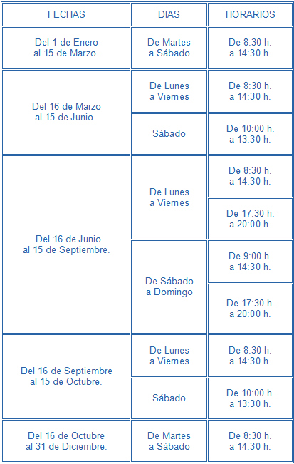 Ayuntamiento de torreblanca tourist info for Horario oficina correos valencia